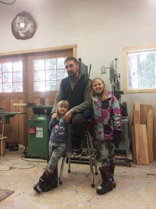Owner Shane Patterson of Rubus Woodworks